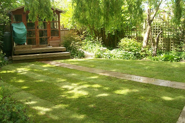 Garden landscaping project in cheadle hulme garden makeover for Evergreen landscapes ltd