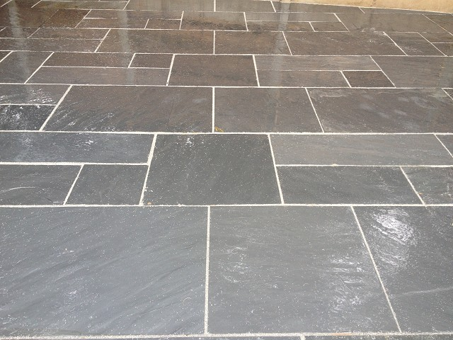 Indian stone patio