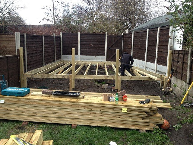 Landscape gardening hazel grove heald green high lane for Garden decking and grass