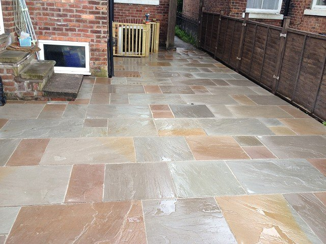 Stockport areas covered by our landscape gardening services for Garden decking and slabs