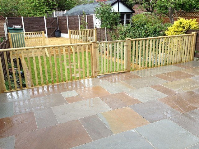 Patio, Decking And Lawn Project In Great Moor, Stockport.