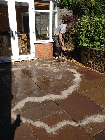 Indian stone paving patios paths driveways stockport for Evergreen landscapes ltd