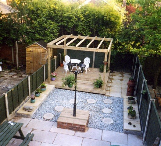 Garden Landscaping Project in Stockport Garden Patio Decking